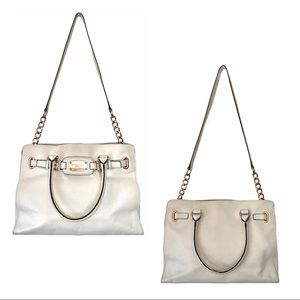 Michael Kors Hamilton Tote with Rose Gold Hardware
